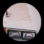 Ferric Acid and Rust On Car